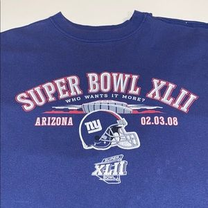 Super Bowl XLII New York Giants shirt